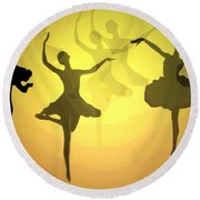 Dance With Us Into The Light Round Beach Towel