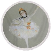 Dancer Round Beach Towel by Marna Edwards Flavell