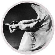 Dancer Martha Graham Round Beach Towel