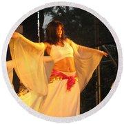 Dancer Round Beach Towel
