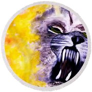 Wolf In Sheep's Clothing Round Beach Towel