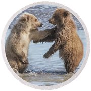 Dancing Bears Round Beach Towel