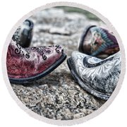 Dancing Boots Round Beach Towel