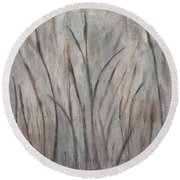 Dancing Cattails 2 Round Beach Towel