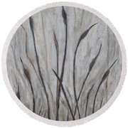 Dancing Cattails 3 Round Beach Towel
