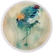 Dancing Crane Round Beach Towel