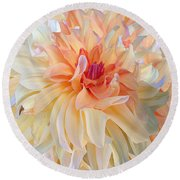 Dancing Dahlia Round Beach Towel