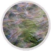 Dancing Foxtail Grass Round Beach Towel