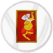 Dancing Ganesha Round Beach Towel