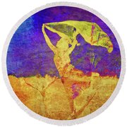 Dancing In The Field Round Beach Towel