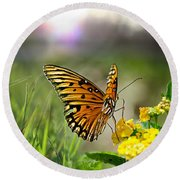 Dancing In The Light Round Beach Towel
