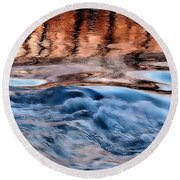 Dancing In The Mirror Round Beach Towel