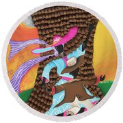 Dancing In The Son's Light Round Beach Towel