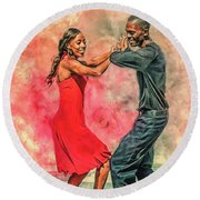 Dancing In The Street Round Beach Towel
