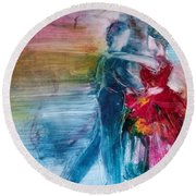 Dancing Into Eternity Round Beach Towel