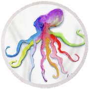 Dancing Octopus Round Beach Towel