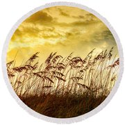 Dancing Sea Oats Round Beach Towel