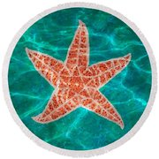 Dancing Starfish Round Beach Towel