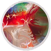 Dancing Stars Round Beach Towel