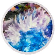Dancing Swells Round Beach Towel
