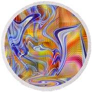 Dancing Through A Rainbow - 090 Round Beach Towel