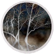 Dancing Tree Altered Round Beach Towel