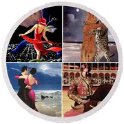 Dancing With Stars Round Beach Towel