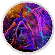 Dancing With The Universe Round Beach Towel