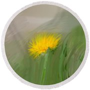 Round Beach Towel featuring the photograph Dandelion May 2015 Painterly by Leif Sohlman