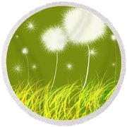 Dandelions Are Free Round Beach Towel