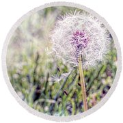 Dandilion Wishes Round Beach Towel