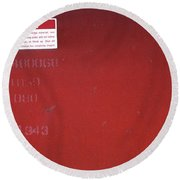 Round Beach Towel featuring the photograph Danger by Kenneth Campbell
