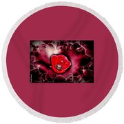 Dangerous Passion Round Beach Towel