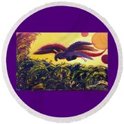 Dangerous Waters Round Beach Towel