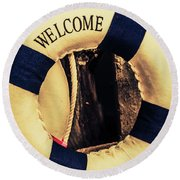 Dangers From Nautical Old Round Beach Towel