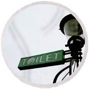 Danish Toilet Sign Round Beach Towel