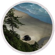 Dappled Light Round Beach Towel