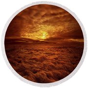 Round Beach Towel featuring the photograph Dare I Hope by Phil Koch