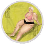 Round Beach Towel featuring the digital art Dare To Wear by Bria Elyce