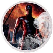 Daredevil Collection Round Beach Towel by Marvin Blaine