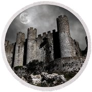 Dark Castle Round Beach Towel by Carlos Caetano