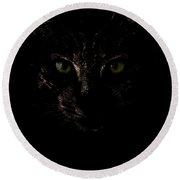 Round Beach Towel featuring the photograph Dark Knight by Helga Novelli