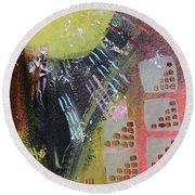Dark City Round Beach Towel