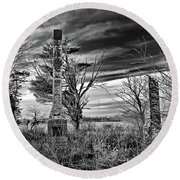 Round Beach Towel featuring the photograph Dark Days by Brian Wallace