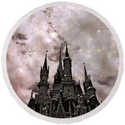 Dark Disney Round Beach Towel