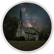 Round Beach Towel featuring the photograph Dark Enchantment  by Aaron J Groen