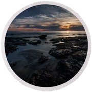 Dark  Light Round Beach Towel