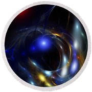 Dark Matter Revealed Round Beach Towel by David Lane