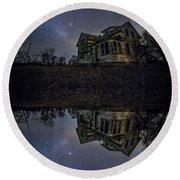 Round Beach Towel featuring the photograph Dark Mirror by Aaron J Groen