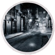 Dark Nyc Round Beach Towel